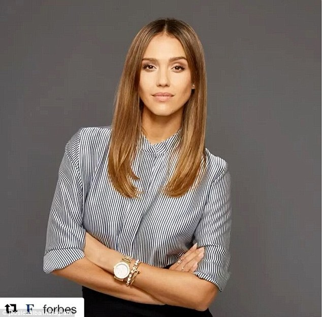 Powerful pose:On Monday The Honest Company co-founder shared another video to Instagram of herself looking business chic with her arms crossed at her waist