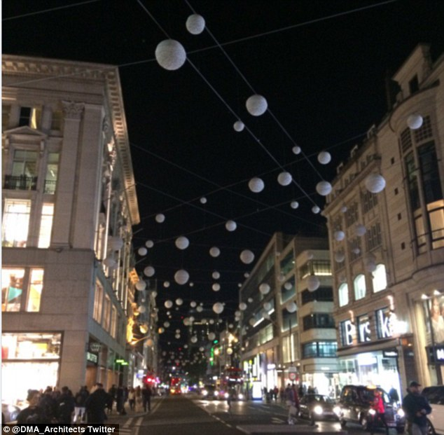 Oxford Street in London have installed the annual Christmas lights - but not everyone is happy about it