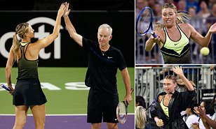 Maria Sharapova makes her return to the tennis court for first time since positive drug