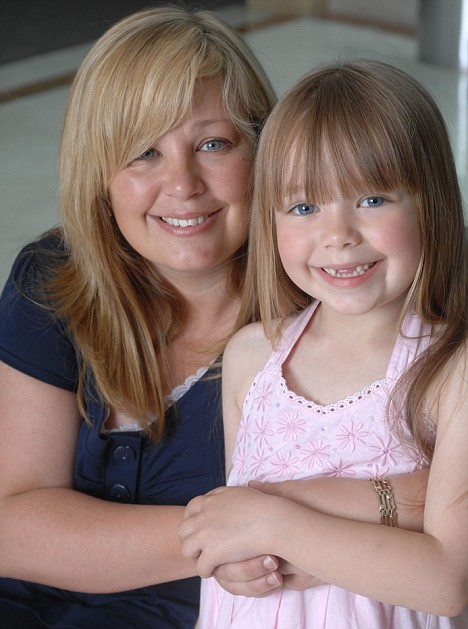 Connie Talbot, 6, from Sutton Coldfield, West Midlands, pictured with her mother Sharon