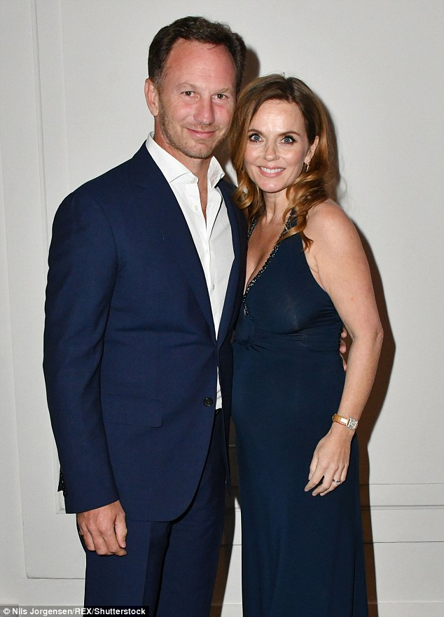 Expecting: Louise congratulated 44-year-old Geri Horner and her husband Christian Horner, who announced their pregnancy joy on Monday