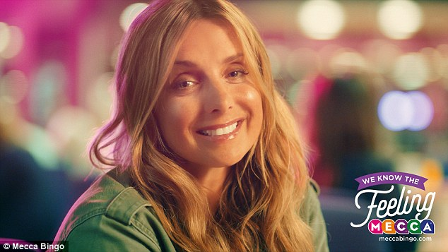Moving on: Family girl Louise is the new face of Mecca bingo, appearing in their advert