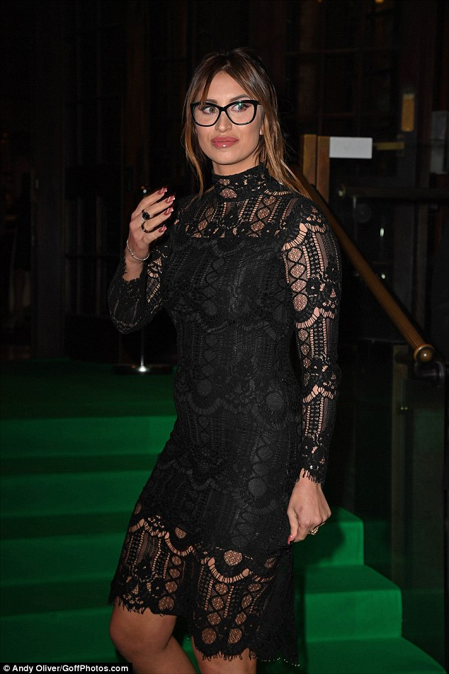 Sophisticated: Aside from her mishap, Ferne looked simply sensational at the bash where she ensured she upped the glam factor to full with her flawlessly made up appearance