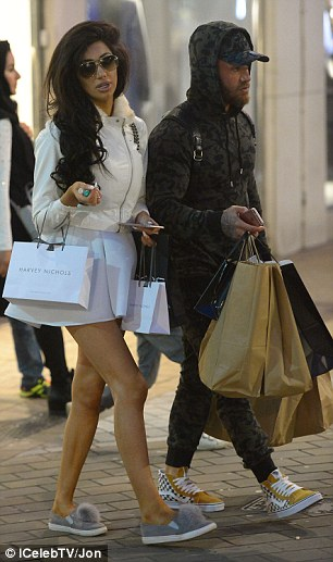 Chilling: He looked super comfy for the day out shopping