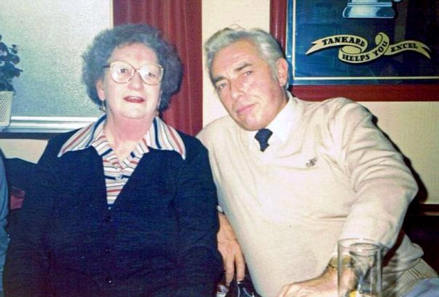 Family: Maud Mellors drove around the city centre with her son Peter (pictured together)