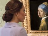 The Duchess of Cambridge views Girl With A Pearl Earring by Johannes Vermeer at the Mauritshuis in The Hague