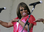 FILE - In this May 3, 2008 file photo, Joan Marie Johnson performs during the 2008 New Orleans Jazz & Heritage Festival in New Orleans. Johnson, one of the f...