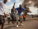 Police fired tear gas at scores of opposition supporters rallying in Kinshasa on September 19, 2016 to demand that DR Congo's long-serving President Joseph K...