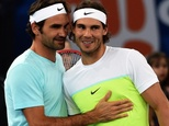 Spain's Rafael Nadal (right) and Switzerland's Roger Federer have won 31 Grand Slam titles between them