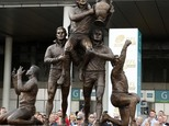 Gus Risman is immortalised in bronze in a statue at Wembley. Now his son Bev wants to see both codes of rugby merged into one