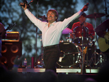 FILE - In this May 27, 2001, file photo, Davy Jones and the Monkees jam at Applebees parks first concert in Lexington, Ky. A fire in central Pennsylvania des...