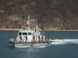 A South Korean coastguard vessel off the island of Baengnyeong in March 2015