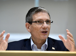 FILE - In this Thursday, June 2, 2016 file photo, U.S. Rep. Joe Heck, R-Nev., speaks during a roundtable event in Henderson, Nev. The contest to replace Neva...