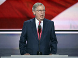 FILE - In this July 19, 2016, file photo, Majority Leader Mitch McConnell of Kentucky speaks during the second day of the Republican National Convention in C...