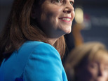 FILE - In this Monday, Oct. 3, 2016, file photo, incumbent Republican U.S. Sen. Kelly Ayotte listens to a question during a debate with Democratic challenger...