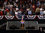 Republican presidential candidate Donald Trump speaks during a campaign rally, Monday, Oct. 10, 2016, in Wilkes-Barre, Pa. (AP Photo/ Evan Vucci)