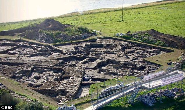 Big draw: Britain's earliest examples of artwork have been found on the walls at the Orkney site