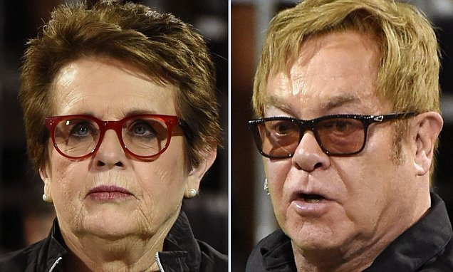 Elton John and good friend Billie Jean King look like twins at Las Vegas AIDS event