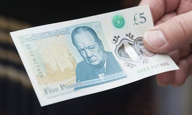 Got a new Churchill fiver? Check the serial number for AA01