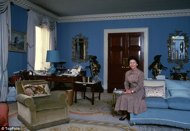 Princess Margaret in the drawing room in 1981