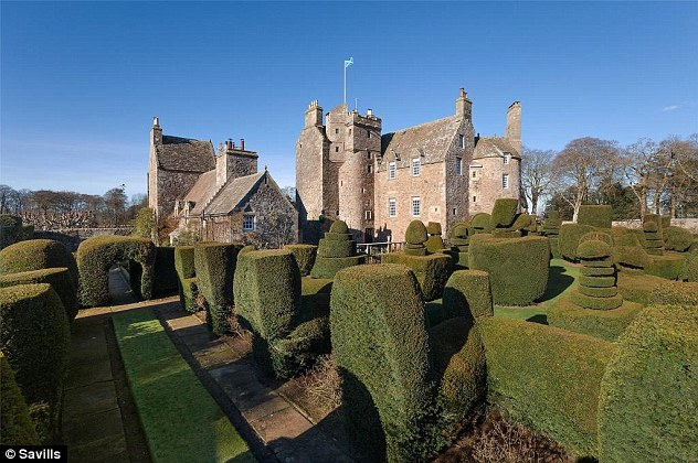 The 16th century castle is surrounded by a magnificent walled garden with a topiary lawn.