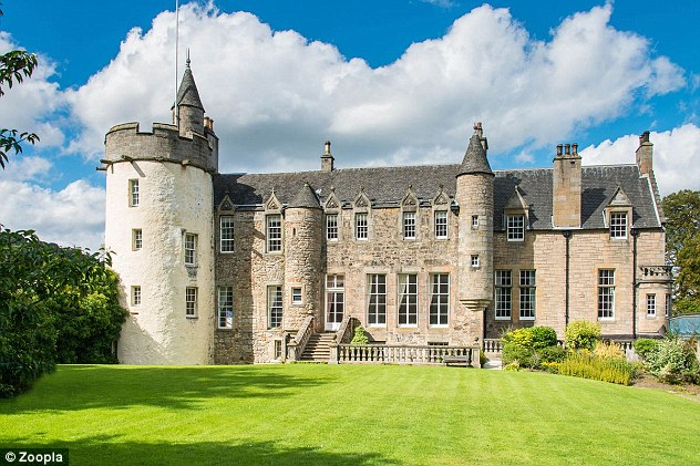 Craigcrook castle dates back to the 16th century and is three miles from the centre of Edinburgh.