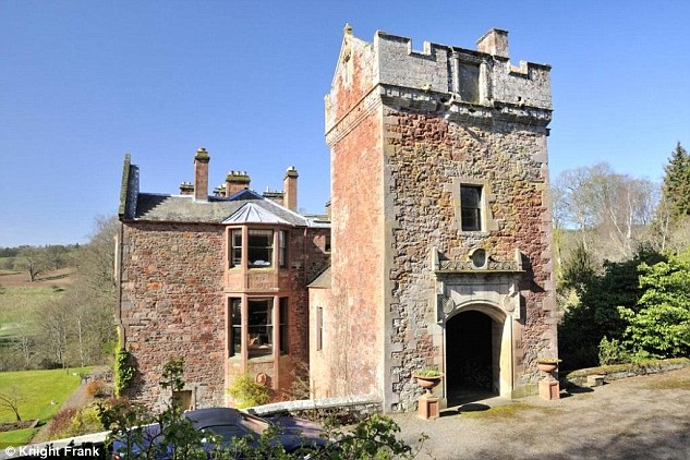The property is in the heart of the Scottish Borders and boasts plenty of open space.