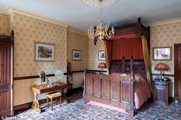 The period furniture is perfectly fitting for the property called Wharmton Tower.