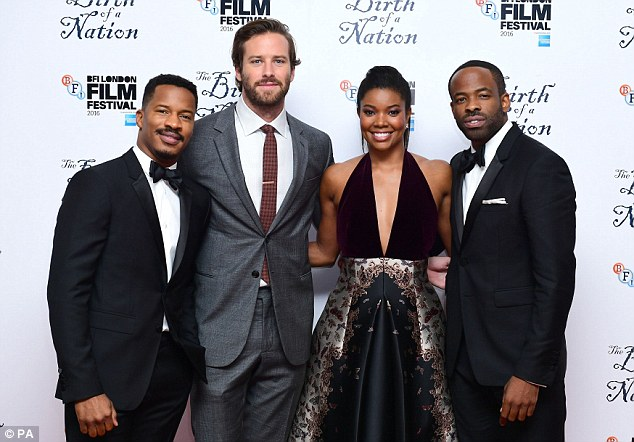 Stars of the show: Nate Parker, Armie Hammer, Gabrielle Union and Chike Okonkwo