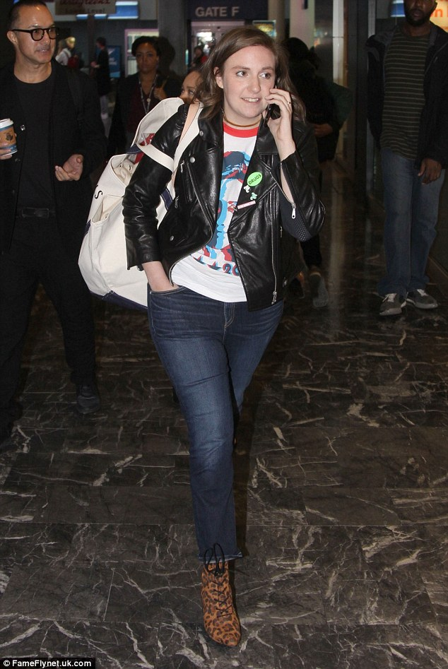 Ready for action! Lena Dunham is making sure to keep her life on track as she left New York by train on Tuesday