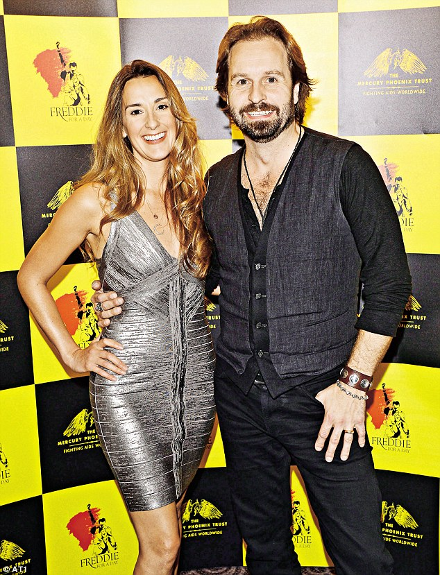 Alfie Boe with his wife, Sarah, in 2012
