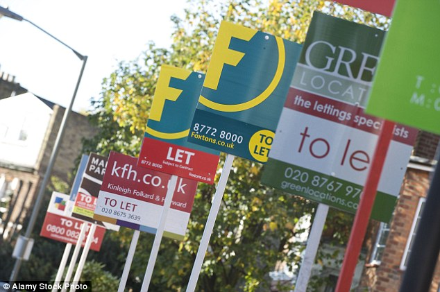In demand: But RICS said that 86%of landlords have no plans to increase their rental portfolio