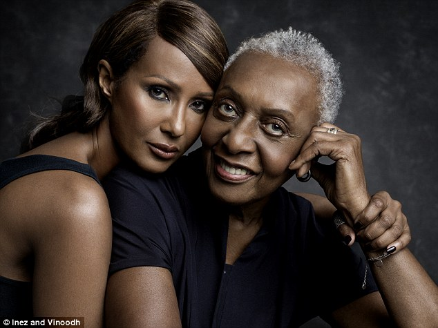 Inspiring: They were speaking as part of a female empowerment campaign #ActuallySheCan, also featuring supermodel Iman, 61, pictured left with fashion pioneer Bethann Hardison