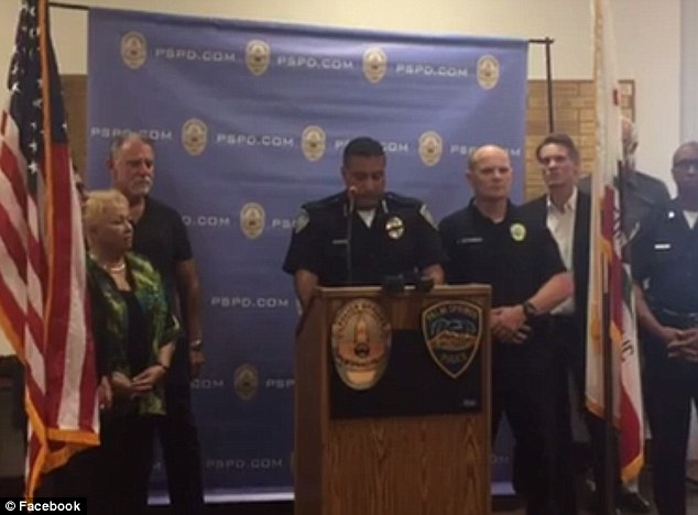 Palm Springs Police Chief Bryan Reyes (above) said Vega was a 35-year veteran of the force, while Zerebny had just returned back to duty after giving birth to a baby girl four months ago