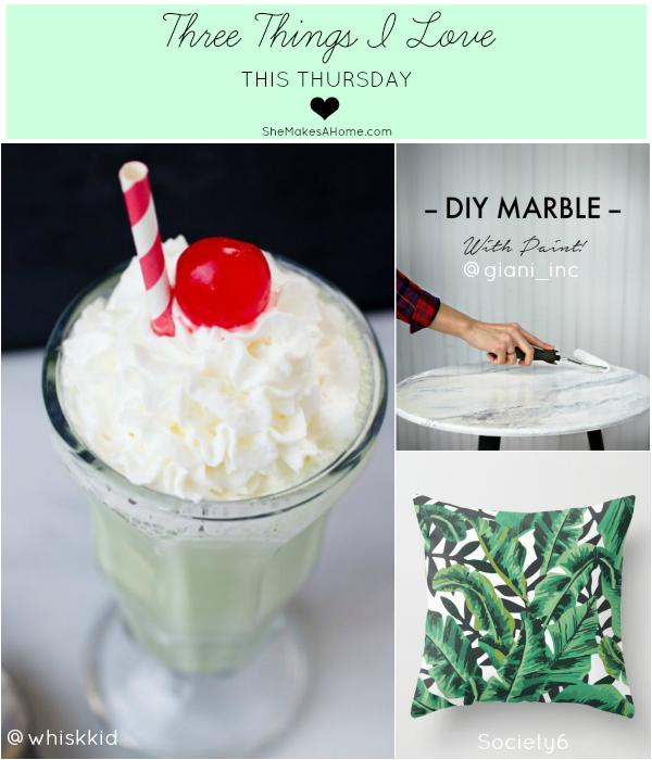 three things thursday shake banana leaf DIY marble