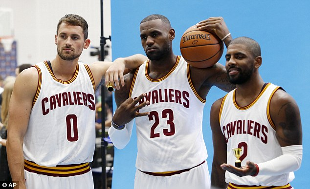 Kevin Love, LeBron James and Kyrie Irving will hope to lead the Cavs to another NBA title