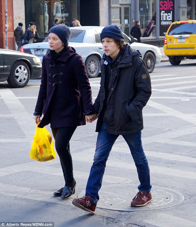The other woman:During their break, Jesse dated Mia Wasikowska, 26; here they are seen in 2014