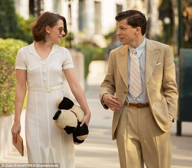They have chemistry on screen:Jesse was last seen with Kristen Stewart in Woody Allen's summer film Cafe Society