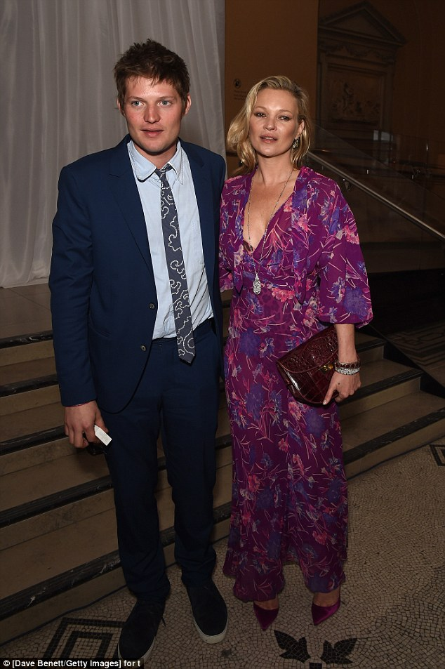 Happy couple? The catwalk icon is believed to be dating Count Nikolai von Bismarck despite rumours the couple's relationship is on the rocks