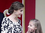 Mandatory Credit: Photo by Agencia EFE/REX/Shutterstock (6242034q) Queen Letizia, Princess Leonor National Day Parade, Madrid, Spain - 12 Oct 2016