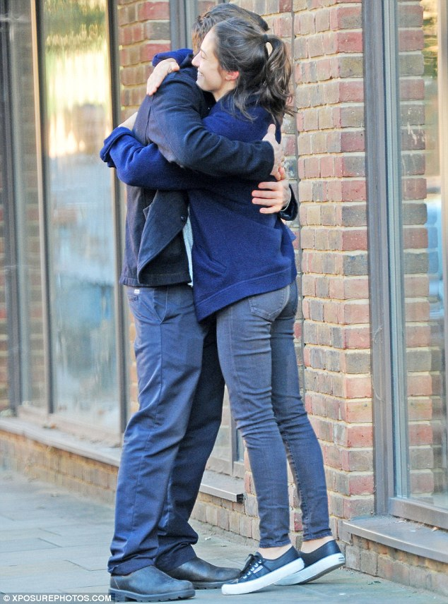 Nice to see you, to see you:Jake Gyllenhaal warmly embraced pretty London-based chef Katja Tausig in Shoreditch, last week