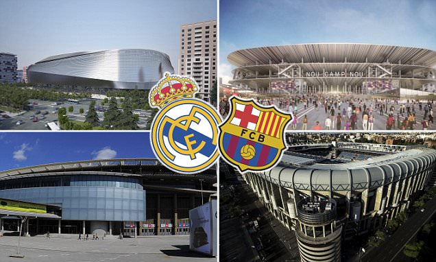 Barcelona and Real Madrid's new multi-million pound stadiums compared