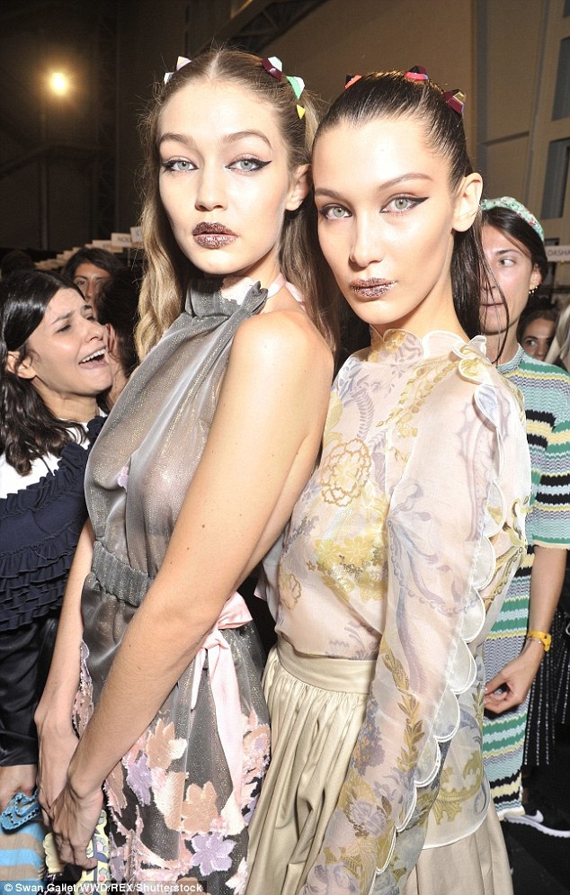 Stunning: The girls have been wowing fashion weeks around the globe