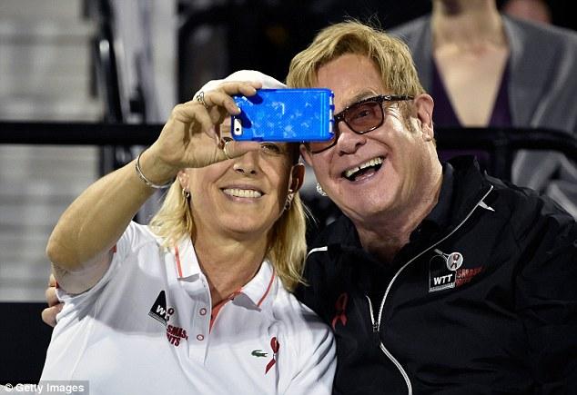 Selfie king:Former tennis player Martina Navratilova stopped him to take pictures