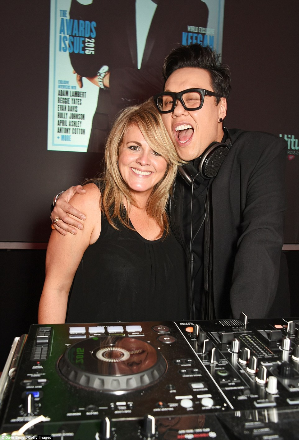 Posing it up: Coronation Street's Sally Lindsay grabbed Gok Wan for a snap in the DJ booth