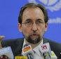 "FILE - In this Feb. 9, 2016, file photo, United Nations High Commissioner for Human Rights Zeid Ra¿ad al-Hussein speaks in Colombo, Sri Lanka. The U.N. human rights chief said on Wednesday, Oct. 12, 2016 that U.S. presidential candidate Donald Trump would be ""dangerous from an international point of view"" if he is elected. (AP Photo/Eranga Jayawardena, File)"