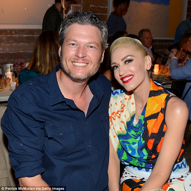 New love: Gwen and Blake Shelton, 40, met on The Voice in 2014 when she replaced a pregnant Christine Aguilera for a season. They came out as an item in November 2015