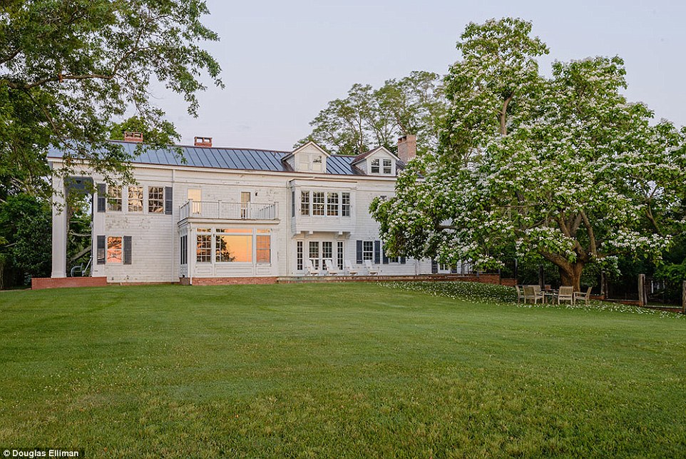 Location, location, location: The five bedroom, five and a half bathroom Colonial property overlooks Sag Harbor Bay
