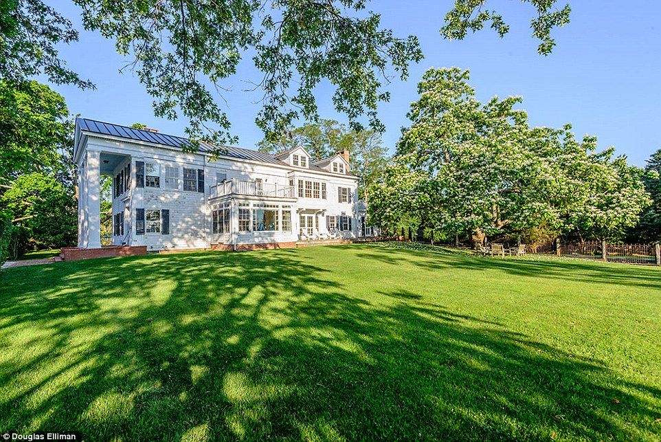 Not the only one: This is the latest Hamptons property that Christie is trying to sell. She put another on the market in June for $29.5million