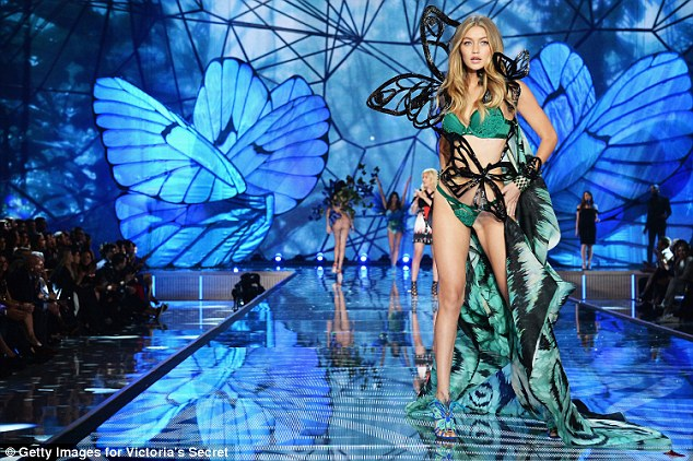 Forward:He would say things like 'Man, you look hot today'; 'Look at her legs;' and 'Man, she looks hot today!' according to the sources (Gigi Hadid above at the 2015 Victoria's Secret Show)